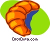 Vector Clipart picture  of a croissant; breakfast