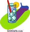 Vector Clip Art graphic  of a high ball cocktail, drink