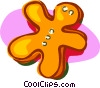 gingerbread cookie Vector Clipart illustration