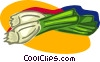 Vector Clipart graphic  of a leeks