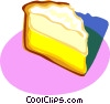 lemon meringue pie, dessert Vector Clipart illustration