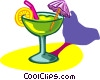 exotic drink with umbrella Vector Clip Art picture