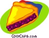 blueberry pie Vector Clip Art image