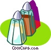 Vector Clip Art image  of a salt and pepper shakers