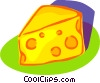 Vector Clipart graphic  of a Swiss cheese