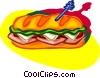 Vector Clip Art graphic  of a submarine sandwich