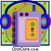 personal tape player with headphones Vector Clip Art graphic
