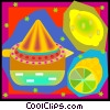 citrus fruits, orange, lemons Vector Clipart image