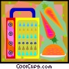 carrot garnish and grater Vector Clipart image