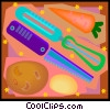 vegetable peeling instruments Vector Clipart graphic