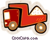 Vector Clip Art image  of a salt truck