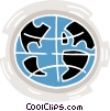 Vector Clip Art graphic  of a world