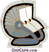 Vector Clip Art picture  of a rolodex