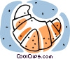 Vector Clipart graphic  of a croissant