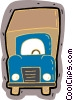 Vector Clip Art image  of a delivery truck