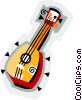 ukulele, musical instrument Vector Clipart picture