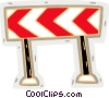 Vector Clipart illustration  of a road hazard ahead