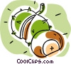 Vector Clipart graphic  of a chestnuts