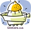 lemon with squeezer, fruit Vector Clip Art picture