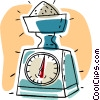 Vector Clip Art graphic  of a food scale