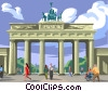 Vector Clip Art graphic  of a Brandenburg gate