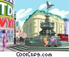 Piccadilly Circus, London, England Vector Clipart illustration