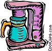 Vector Clip Art image  of a coffee maker