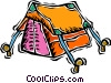 Vector Clipart illustration  of a tent