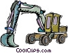 back hoe Vector Clipart graphic