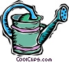 Vector Clip Art image  of a watering can