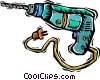 Vector Clipart image  of a electric drill