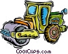 Vector Clipart picture  of a steam roller