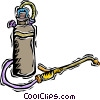 Vector Clip Art image  of a extermination equipment