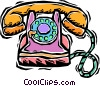 phone, rotary Vector Clipart illustration