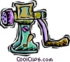 Vector Clipart illustration  of a meat grinder