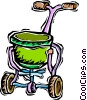 Vector Clip Art graphic  of a grass seed spreader