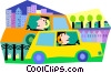 cellular communications from a car Vector Clipart image
