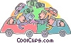 Vector Clip Art graphic  of an automobile insurance claims