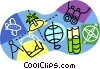 Vector Clip Art picture  of a travel destinations