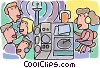 radio station disc jockey Vector Clip Art picture