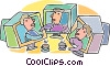Vector Clip Art image  of a internet chat