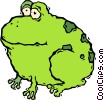 Vector Clip Art graphic  of an Argentinean bull frog