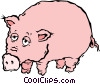 Vector Clip Art picture  of a pig