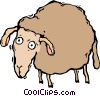 Vector Clip Art graphic  of a sheep