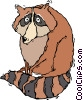 Vector Clip Art image  of a raccoon
