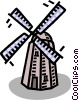 Vector Clipart illustration  of a windmill