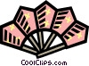 decorative fan Vector Clipart illustration