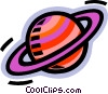 Vector Clip Art image  of a Saturn