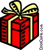 Vector Clip Art graphic  of a present