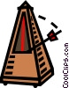 Vector Clipart picture  of a metronome